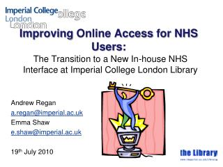 Improving  Online Access  for NHS  Users :