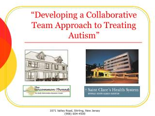 """Developing a Collaborative Team Approach to Treating Autism"""