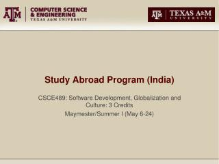 Study Abroad Program (India)