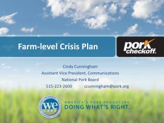 Farm-level Crisis Plan