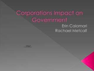 Corporations Impact on Government