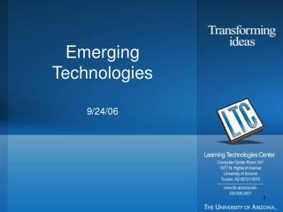 Emerging Technologies 9/24/06