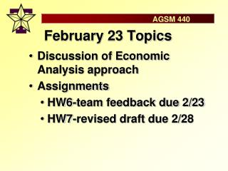 February 23 Topics