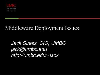 Middleware Deployment Issues