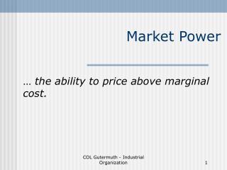 Market Power