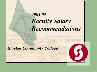 2003-04 Faculty Salary Recommendations