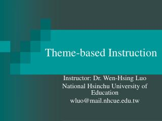 Theme-based Instruction