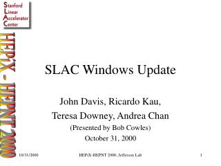 SLAC Windows Update