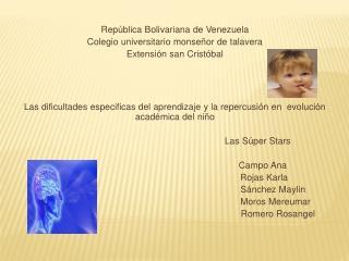 República Bolivariana de Venezuela Colegio universitario monseñor de talavera