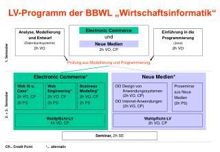 """LV-Programm der BBWL """"Wirtschaftsinformatik"""""""