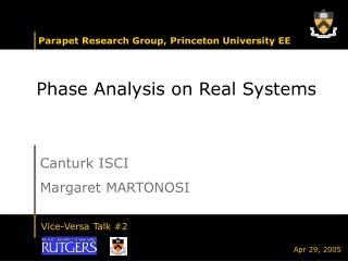 Phase Analysis on Real Systems