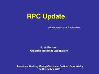 RPC Update