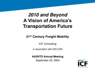 AASHTO Annual Meeting September 20, 2004