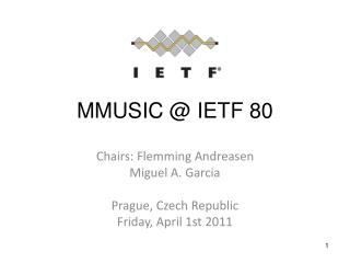 MMUSIC @ IETF 80