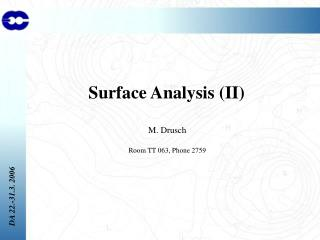 Surface Analysis (II)