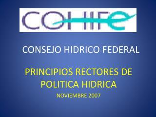 CONSEJO HIDRICO FEDERAL