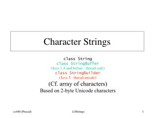 Character Strings