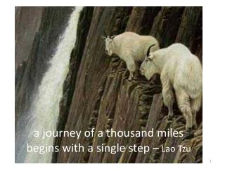 a journey of a thousand miles begins with a single  step –  Lao Tzu