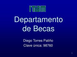 Departamento  de Becas