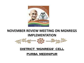 NOVEMBER REVIEW MEETING ON MGNREGS IMPLEMENTATION
