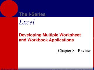 Developing Multiple Worksheet and Workbook Applications
