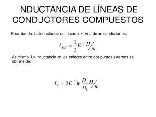 INDUCTANCIA DE L NEAS DE CONDUCTORES COMPUESTOS