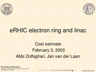eRHIC electron ring and linac