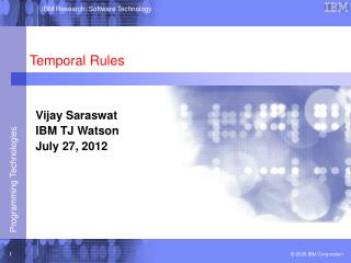 Temporal Rules