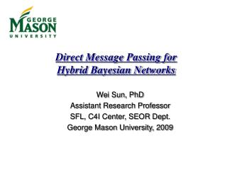 Direct Message Passing for Hybrid Bayesian Networks