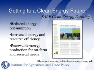 Getting to a Clean Energy Future