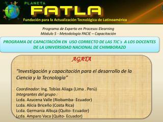 Fundaci�n para la Actualizaci�n Tecnol�gica de Latinoam�rica