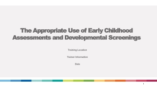 The Development of a Children s Common Assessment Framework for Local Service Providers