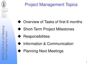 Project Management Topics