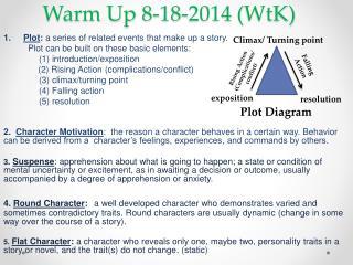 Warm Up  8-18-2014 ( WtK )