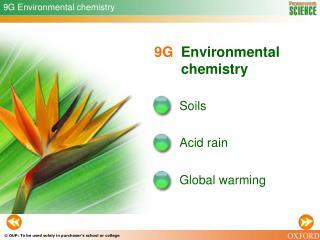 9G Environmental chemistry