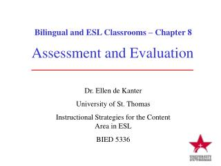 Bilingual and ESL Classrooms � Chapter 8