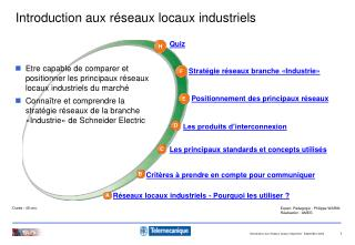 Introduction aux r�seaux locaux industriels