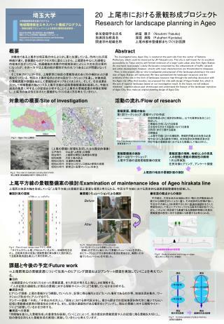 20  上尾市における景観形成プロジェクト Research for landscape planning in Ageo