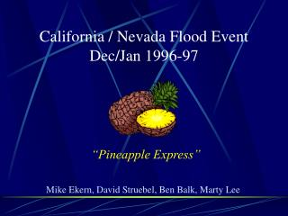 California / Nevada Flood Event Dec/Jan 1996-97