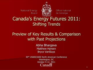 Abha Bhargava Matthew Hansen Bryce VanSluys 30 th  USAEE/IAEE North American Conference