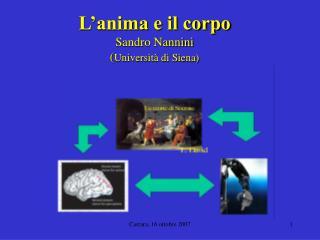 L'anima e il corpo Sandro Nannini ( Università di Siena)