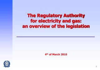 Why an Independent Regulator?