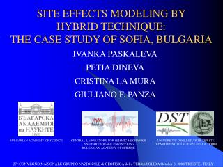 SITE EFFECTS MODELING BY  HYBRID TECHNIQUE:  THE CASE STUDY OF SOFIA, BULGARIA