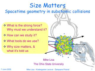 Size Matters Spacetime geometry in subatomic collisions