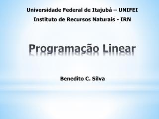 Programa��o Linear