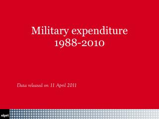 Military expenditure     1988-2010