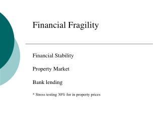 Financial Fragility