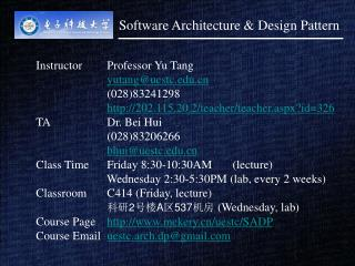 Software  Architecture & Design Pattern