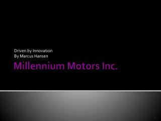 Millennium Motors Inc.