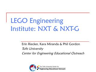 LEGO Engineering Institute: NXT  NXT-G